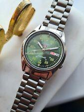 Vintage Green 2000 SEIKO 5 Men's Japan Automatic Watch 7S26-0310