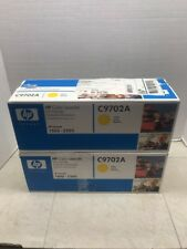 LOT of 2 Genuine HP C9702A yellow toner for 1500, 2500 Factory Sealed