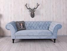 Luxus Sofa XXL Samtsofa Hollywood Couch Polstersofa Vintage Dreisitzer Sofabank