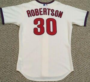 ROBERTSON #30 size 44 2020 PHILADELPHIA PHILLIES Home Cream game Jersey MLB HOLO
