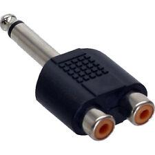 InLine Audio Adapter 6,3mm Klinke St->2x Cinch Bu Mono schwarz