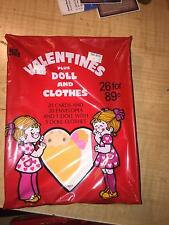 VINTAGE 1980'S VALENTINE CARDS BY PLUS MARK VALENTINES PLUS DOLL & CLOTHES <NEW