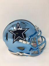 Cowboys custom lt blue CHROME  riddell speed mini helmet