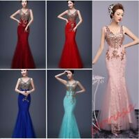 Women Maxi Evening Formal Party Cocktail Wedding Prom Ball Gown Bridesmaid Dress