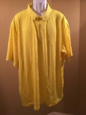 George Big men's solid performance polo Wicking yellow 3XL