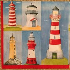 2 single paper napkins for decoupage crafts collection Serwetki Sea Lighthouse