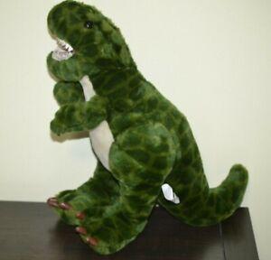 "Dinosaur Green T-Rex Stuffed Plush 14"" Animal Alley Toys R Us 2000"