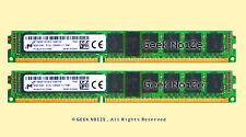 Server RAM 16G 2x 8GB PC3L-12800R ECC REG DDR3L 1600 1Rx4 1.35v RDIMM Memory LOT