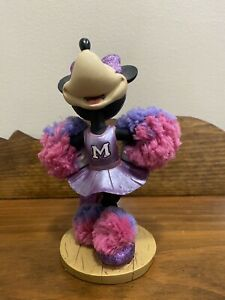 Rare Walt Disney World  Minnie Mouse Bobble Head Cheerleader Original Disney