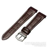 Citizen 22mm Watch Band f/ Eco-Drive AT0550-11X H500-S049628 Brown Leather Strap