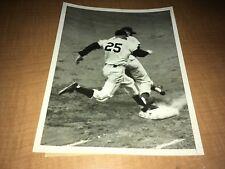 "New York Giants Whitey Lockman vs. Chicago Cubs 1955 INP 7"" x 9"" News Photo"