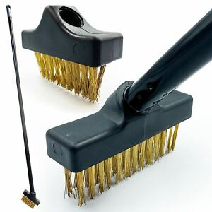 Patio Weed Wire Brush Set Weeding Tool Removal Broom Block Paving Moss Remover