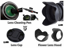 FP91u 72mm Lens Hood + Cap + Lens Cleaning Pen for Digital Camera DSLR Lenses