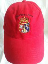 POLISH UNION OF AMERICA Baseball Cap Hat Strapback Red