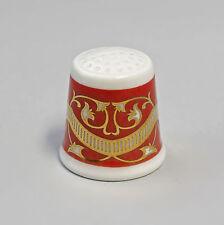 Kämmer PORCELLANA ditale Fiore Ornament ORO/ROSSO 2,5x2,6cm 88227