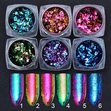 BORN PRETTY Chameleon Nail Sequins Colorful Irregular Glitter Powder Flakes Tips
