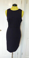 BNWT Calvin Klein Doloris Milano Navy Fitted Dress.  Size L