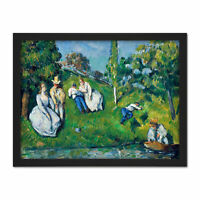 Paul Cezanne The Pond Large Framed Art Print