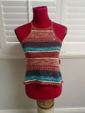 AMERICAN EAGLE OUTFITTERS Womens Summer Crochet Knit BOHO Halter Tank Top XS NEW