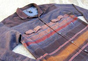 Vtg Patagonia Organic cotton Heavy flannel Shirt Men's XL Dark brown