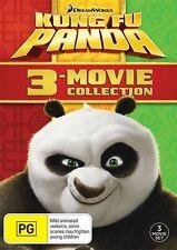 Kung Fu Panda / Kung Fu Panda 2 / Kung Fu Panda 3 (DVD, 2016, 3-Disc Set)