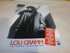 LOU GRAMM - Publicité de magazine / Advert READY OR NOT !!!
