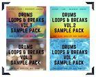 Drums Loops  Breaks Vol.1,2,3  4 Sample Pack /// BUNDLE /// 2000 wav files