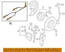VW VOLKSWAGEN OEM CC ABS Anti-Lock Brakes Front-Sensor Wire Left 3C0927903L