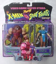 X-Men vs Street Fighter Juggernaut v Chun Li Toy Biz Video Game Super Stars 1998