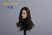 GACTOYS 1/6 GC012A Anne Hathaway Catwoman Curls Hair Head Carved Fit 12'' Doll