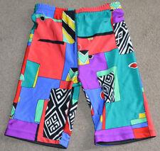 NWOT Vtg Color Fusion By Head Tennis Lycra Stretch Shorts S Neon Rap Hip Hop 90s