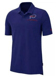 NIKE NFL Buffalo Bills Elite Performance Polo Shirt - Royal Blue (MEN'S MEDIUM)