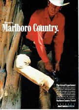 Publicité Advertising 087  1991  Jet'Am  voyages  Marlboro country travel