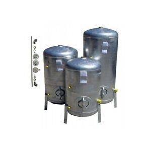 Druckbehälter 100L bis 300L mit Zubehör 9 bar senkrecht verzinkt  Druckkessel ve
