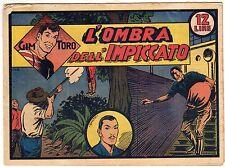 fumetto GIM TORO SERIE ROSA ORIGINALE ANNO 1948 N. 8