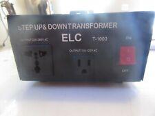 V2 ELC T-1000 STEP UP & DOWN TRANSFORMER 110 / 240 FREE SHIPPING