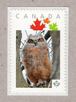 GREAT HORNED OWLET  Picture Postage MNH Canada 2016 [p16/05ow2/2]