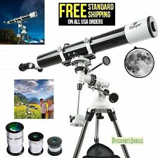 Gskyer Eq 80900 Telescope German Technology Telescope Starwatcher Refractors-New