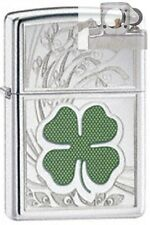 Zippo 24699 four leaf clover luck Lighter with PIPE INSERT PL
