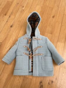 Burberry - Children / Kids / Baby - Double-Faced Wool Duffle Coat - 6M - Blue