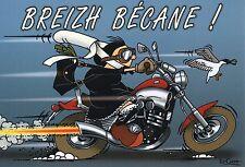 """CP humoristique - BRETAGNE -""""Breizh Bécane"""""""