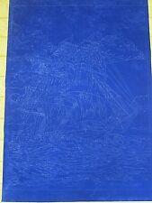 """Tri Chem Huge """" Tempest """" Mural Sailing Ship Velvet Picture u Paint 30X40"""" Artex"""