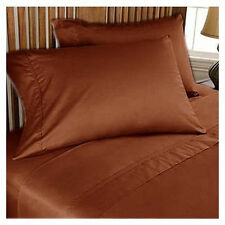 Extra Deep Pocket 1000Thread Count Egyptian-Cotton Solid Sheet Set Select Size