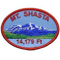 "Mount Shasta Patch - Cascade Range, Siskiyou, Trinity, California 3.5"" (Iron on)"