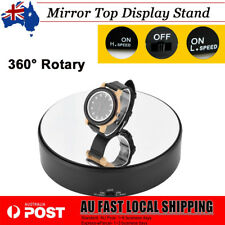 18cm Jewelry Holder Mirror Effect Rotating Rotary Display Stand Turntable AU