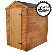 6x4 GARDEN SHED EASY FIT APEX ROOF FLOOR DOOR WINDOWLESS WOOD BIKE STORE 6ftx4ft