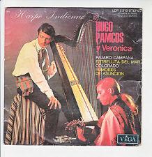 """Hugo PAMCOS Y VERONICA Disque 45T 7"""" EP HARPE INDIENNE -PAJARO CAMPANA -COLORADO"""