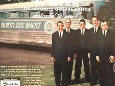 "Palmetto State Quartet ""TV REVIEW"" OF FAVORITE GOSPEL SONGS 1963 vinyl LP +bonus"