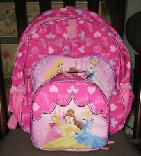 PERFECT FOR A PRINCESS** NEW~IN PACK*DISNEY  BACKPACK LUNCH SET~COLLECTIBLE*PINK