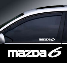 Mazda 6 Logo Window Decal Sticker Graphic *Colour Choice*